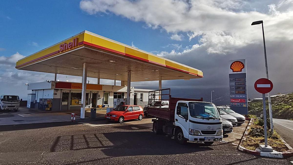 Gasolinera en La Palma.