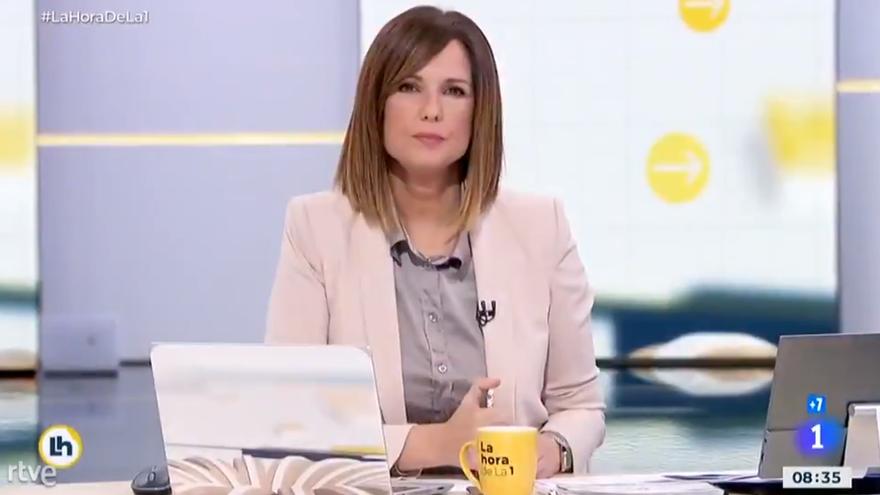 Mónica López pide disculpas en 'La hora de La 1' por el rótulo sobre la princesa Leonor
