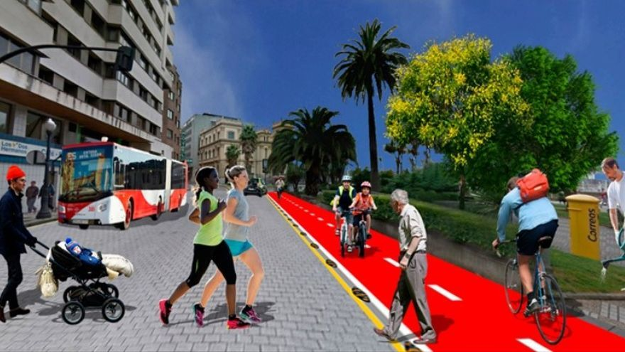 Un plan para peatonalizar el Tránsito de las Ballenas y unirlo al paseo del Muelle