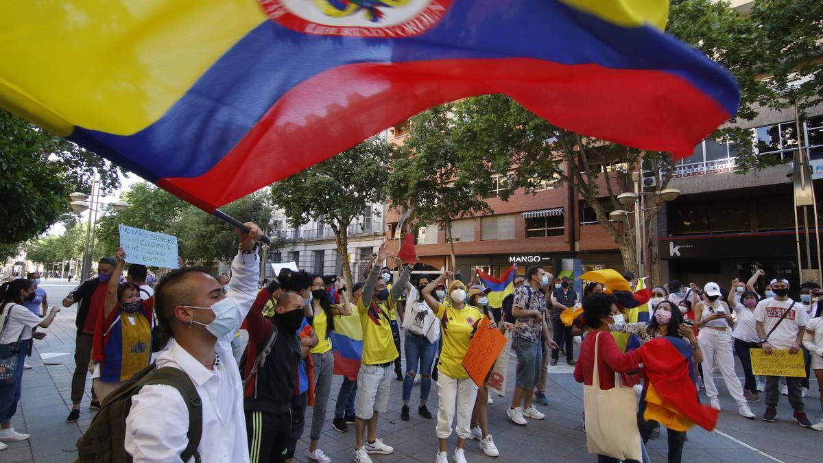 Concentración en el Bulevar contra la violencia en Colombia.