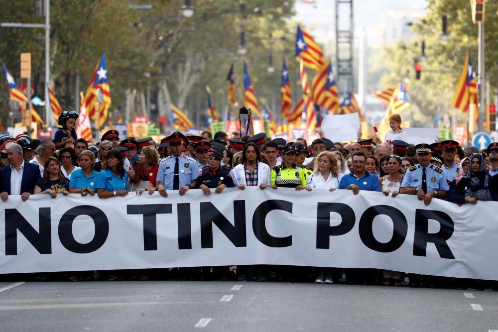 Las imágenes de la manifestación en Barcelona
