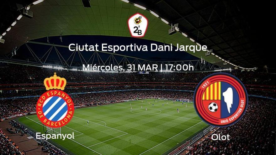 Jornada final de la Primera Fase de Segunda B: previa del partido Espanyol B - Olot