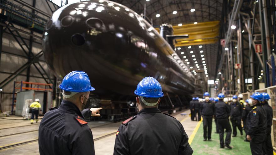 Los Reyes visitarán Cartagena la semana que viene para la puesta a flote del submarino S-81