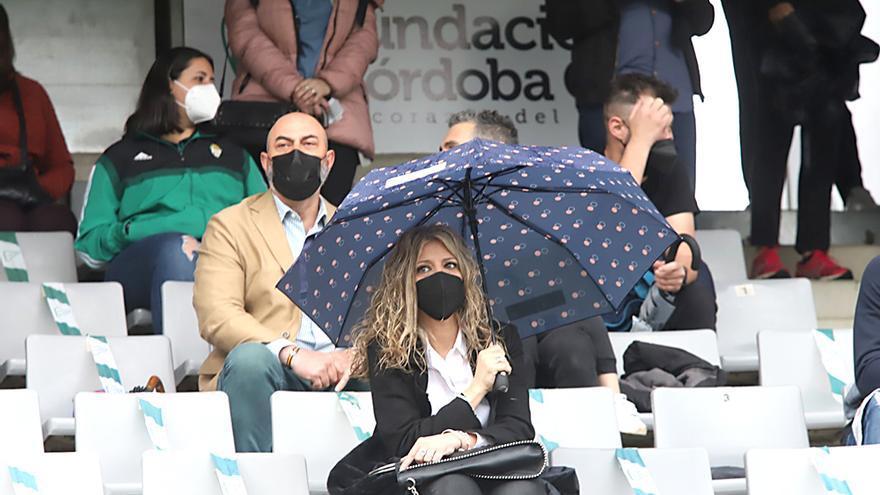 Aficionados asistentes al encuentro Córdoba CF-UD Tamaraceite