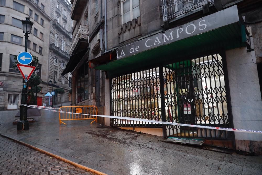 Desperfectos en Vigo por el temporal.