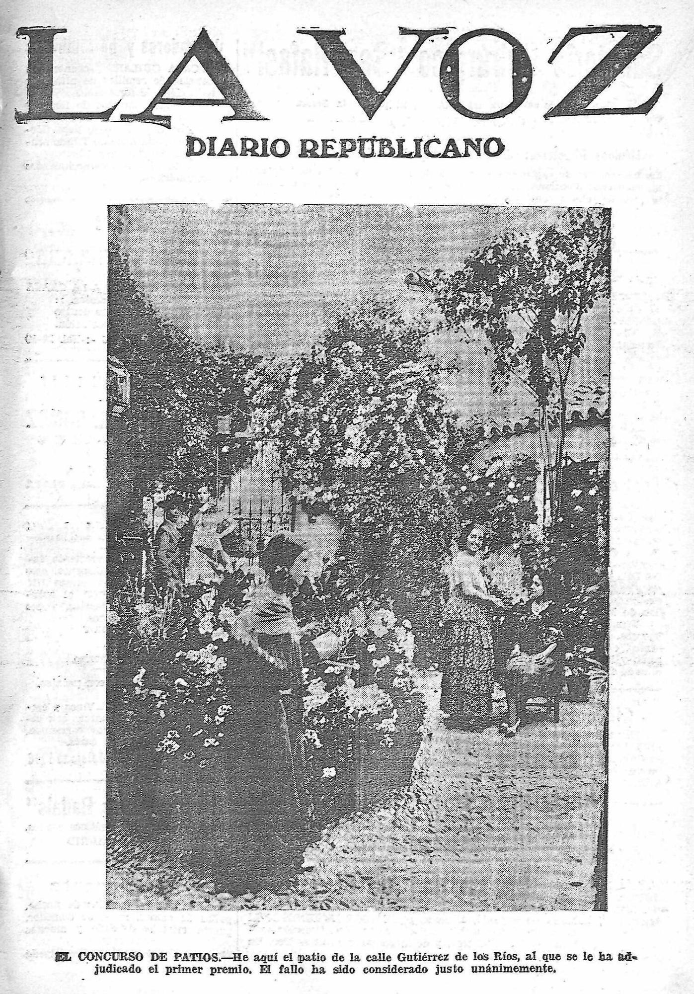 Patio del certamen de 1933 de la calle Gutiérrez de los Rios