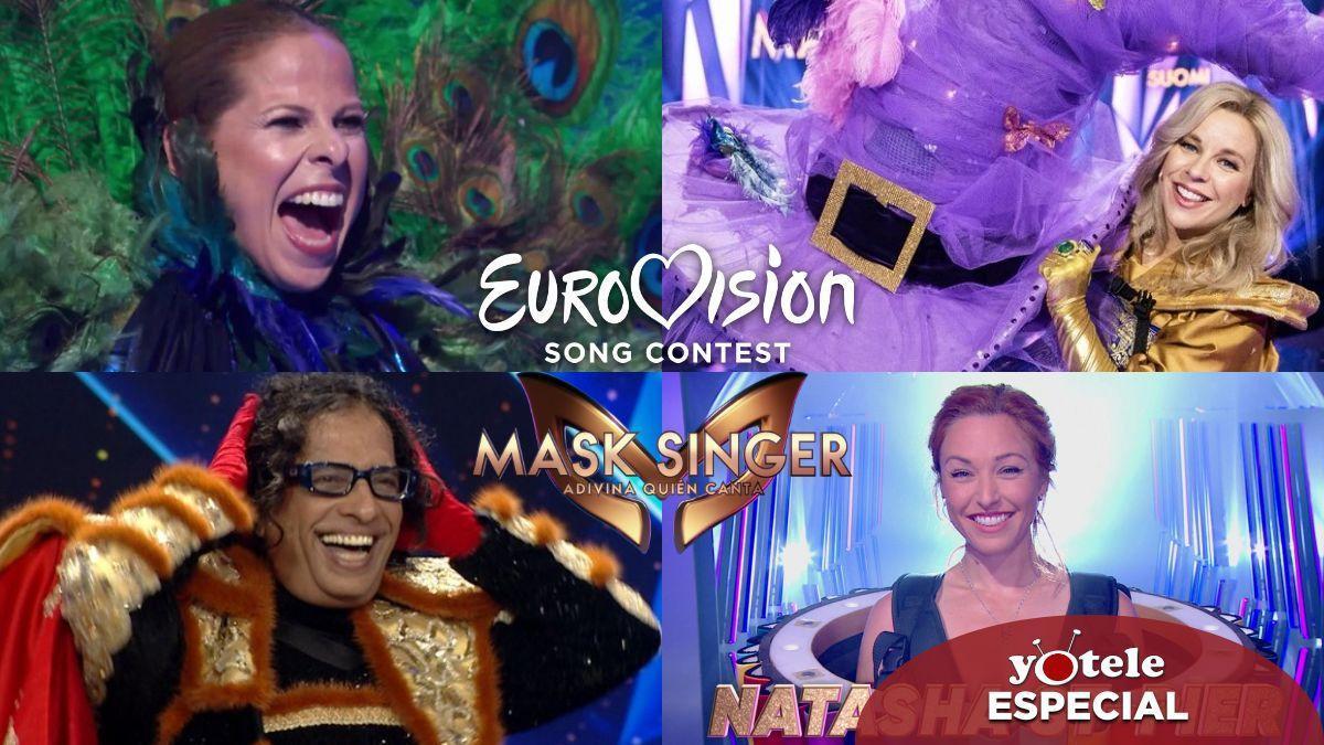 Algunos de los artistas eurovisivos que han participado en 'Mask Singer'.