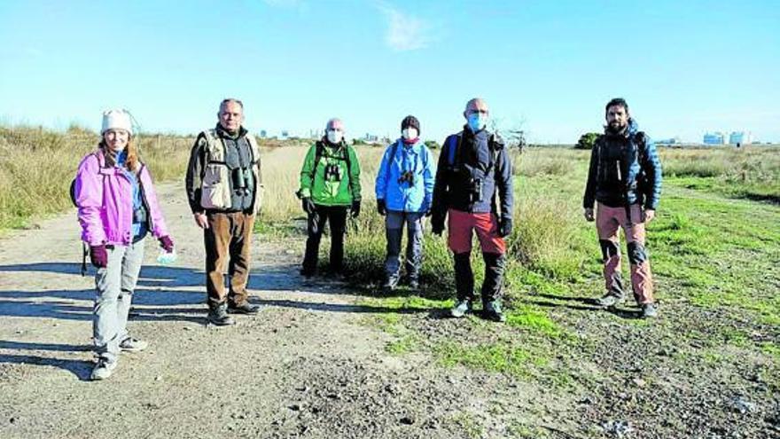 La Societat d'Ornitologia visita el marjal dels Moros