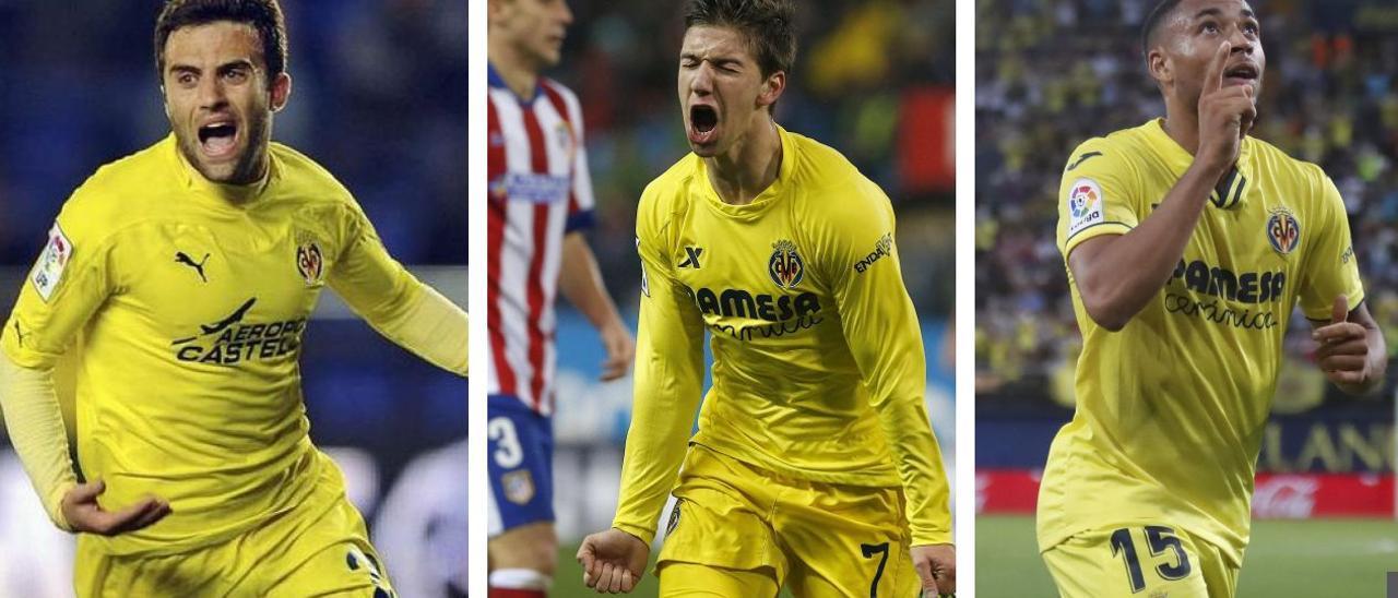 Giussepe Rossi, Luciano Vietto y Arnaut Danjuma, tres jóvenes talentos que el Villarreal supo captar