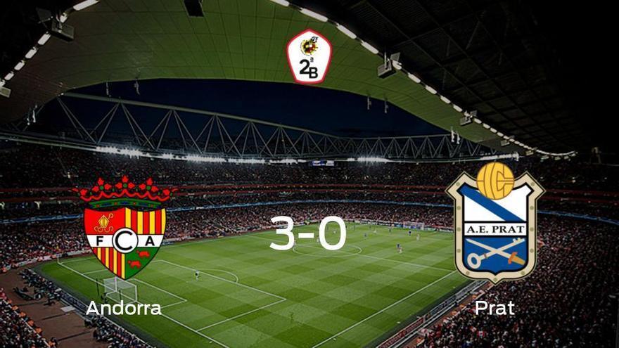 El FC Andorra consigue la victoria ante el Prat con una goleada (3-0)