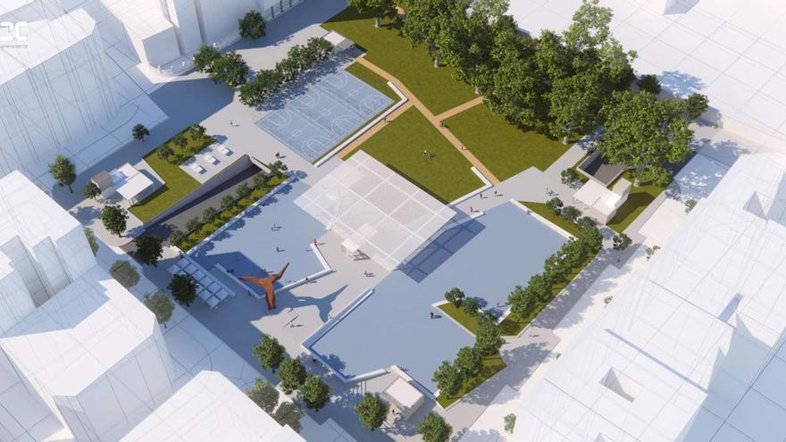 Obras en Pontevedra | Así será la nueva plaza de Barcelos