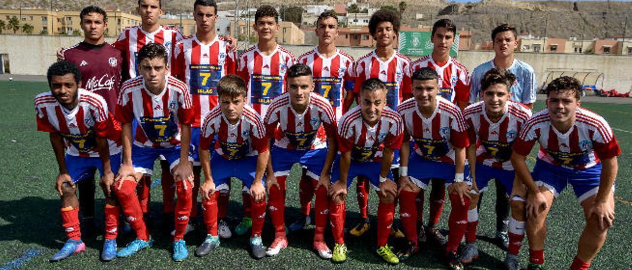 Dis instantes del interesante partido disputado el sábado y la formación del Atlético Gran Canaria, el líder junto al Guiniguada de la Preferente.