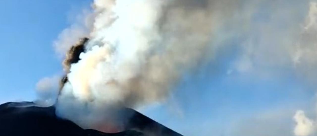 El volcán de La Palma inicia su día 40 desde la erupción con la colada de La Laguna estabilizada