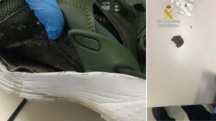 Incautados 12 gramos de hachís ocultos en una zapatilla en el penal de Teixeiro