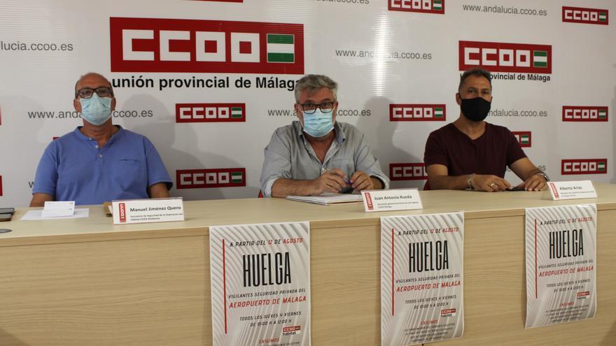 CCOO anuncia una huelga la vigilancia del aeropuerto de Málaga desde el 12 de agosto