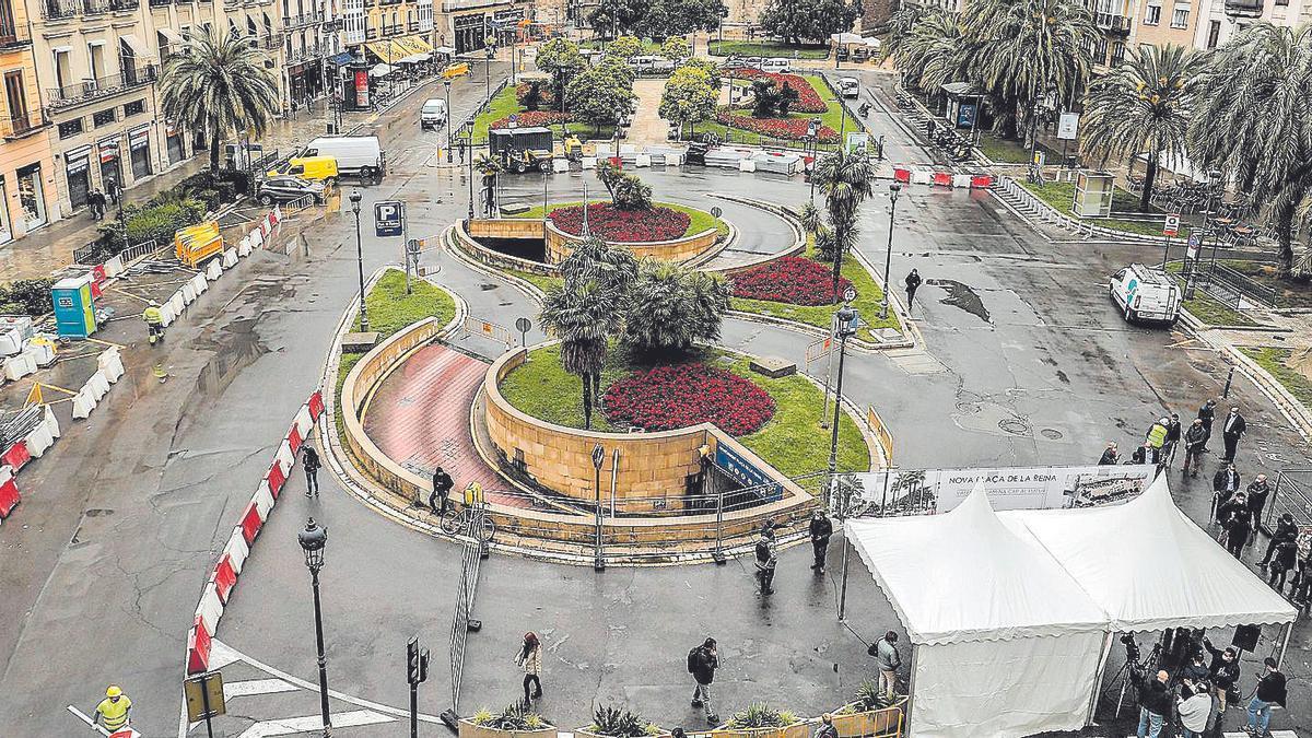 La nueva Plaza de la Reina tendrá más árboles, toldos y difusores de agua