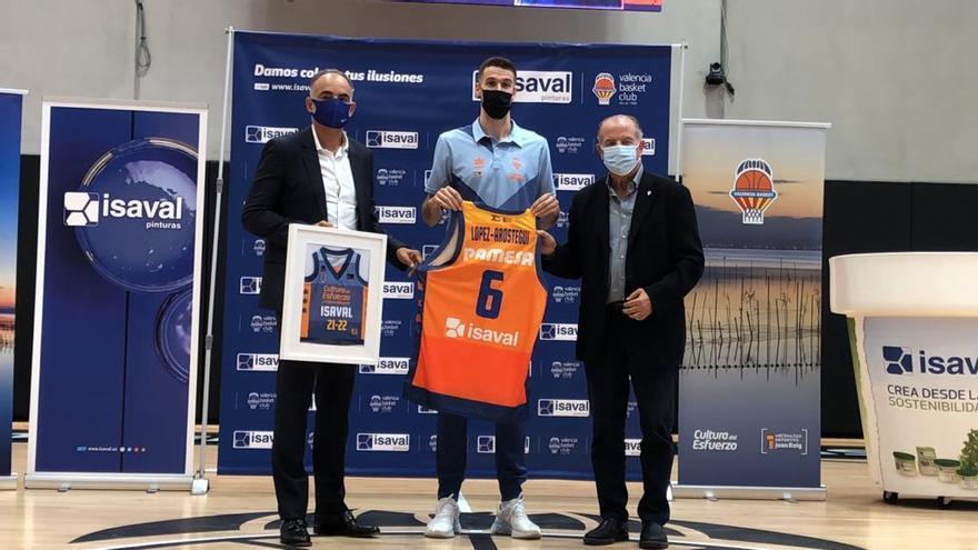 Presentación de Xabi López-Arostegui con el Valencia Basket