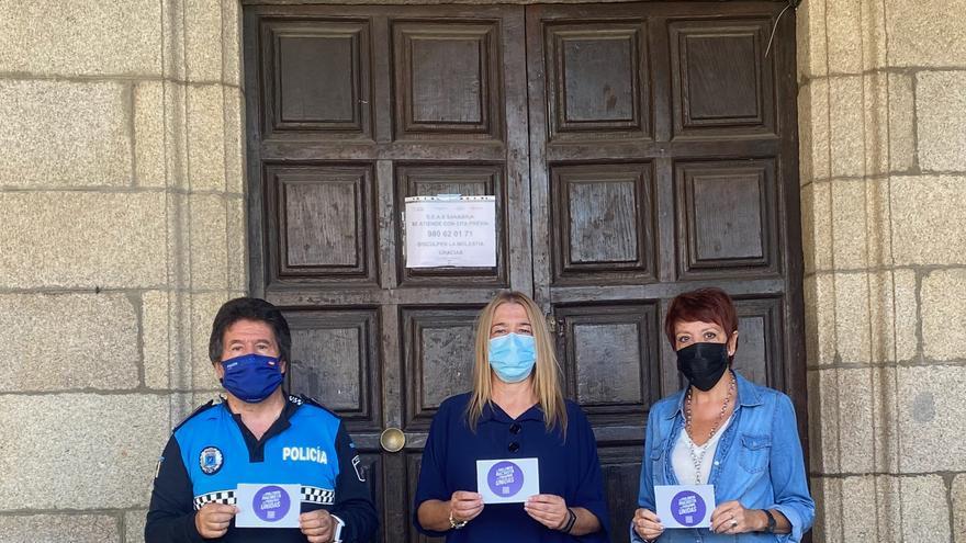 """El Ayuntamiento de Puebla de Sanabria se suma a la campaña del """"Punto Violeta"""" promovida por el Ministerio de Igualdad"""