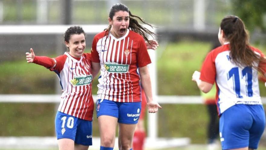 El Sporting Femenino B vence 4-2 al Umia