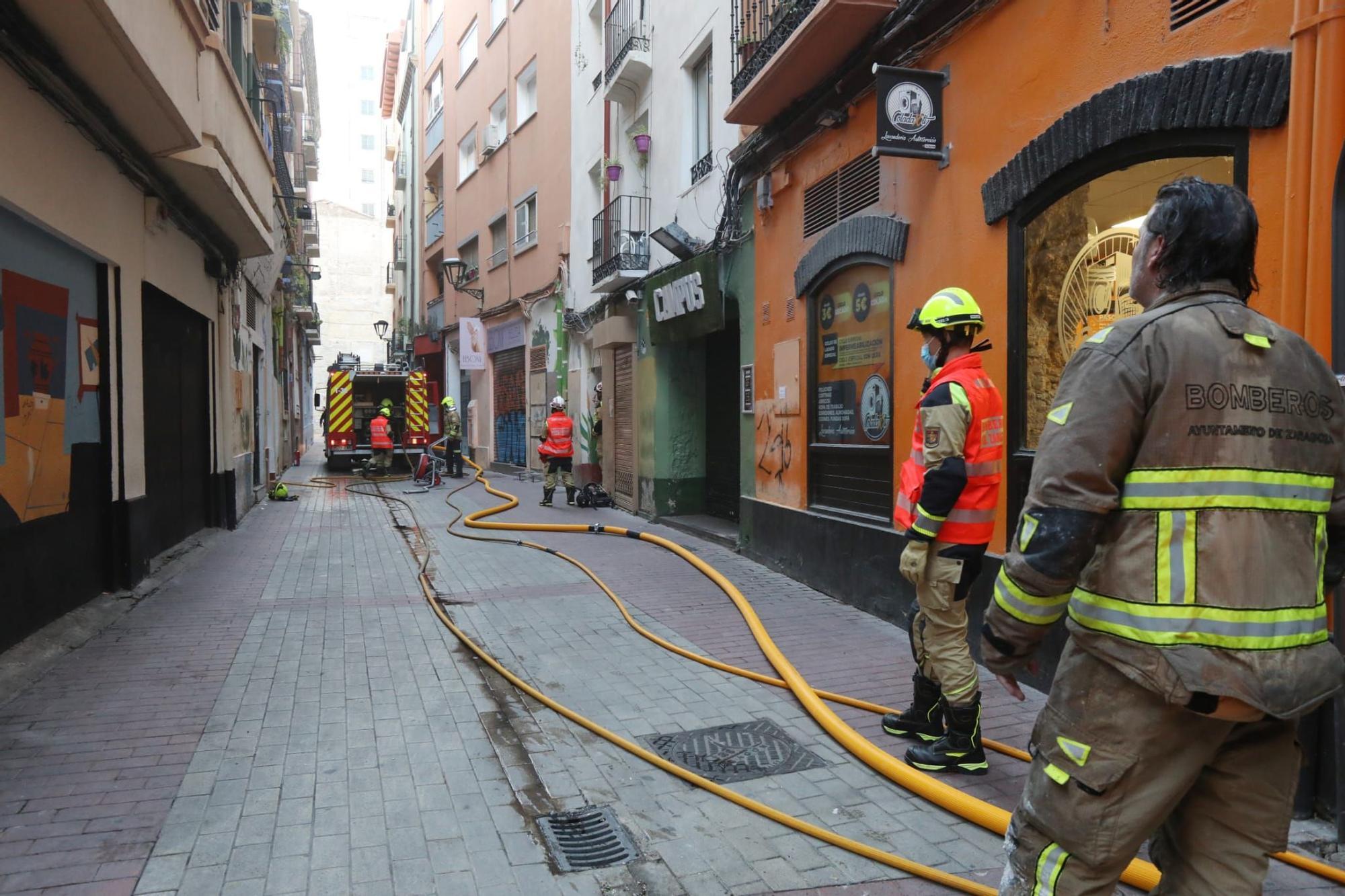 Actuación de los Bomberos de Zaragoza