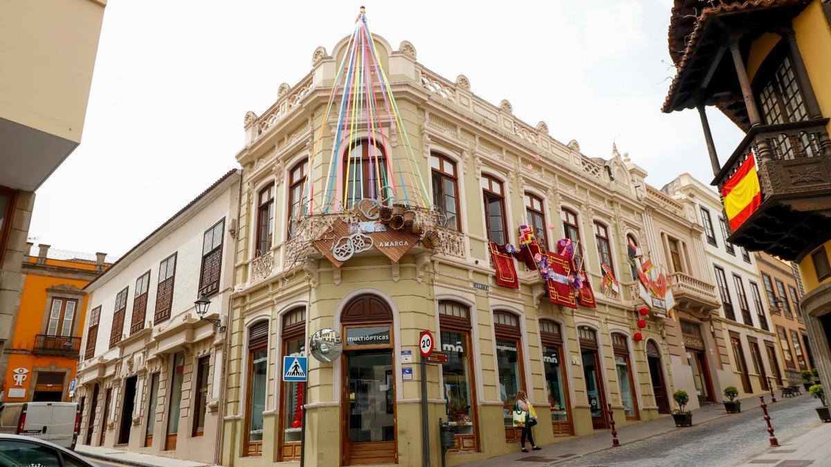 Una de las fachadas decoradas en 2020