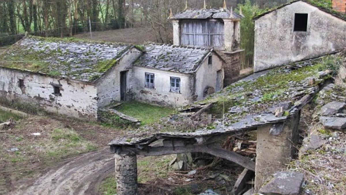 Una aldea abandonada en Lugo. |   // L .O.