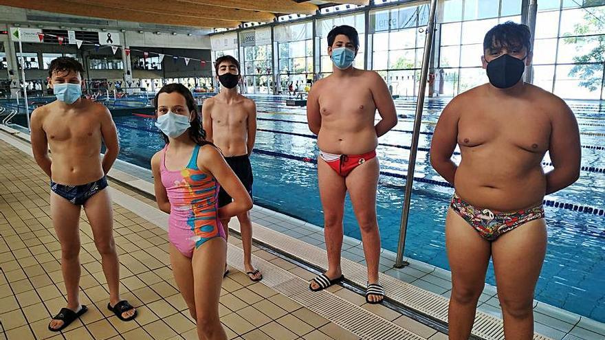 Seis deportistas del CW Pontevedra, con las selecciones gallegas