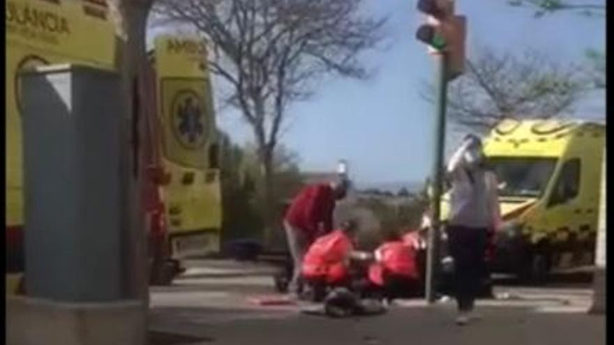 La Policía Local identifica al coche que amputó el pie a un motorista en la Playa de Palma y se dio a la fuga