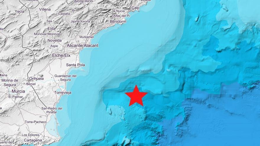 La costa de Torrevieja registra un seísmo de 1,9 de magnitud