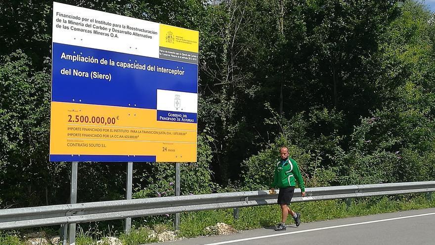 El Principado inicia las obras de ampliación del colector del Nora, con una inversión de 2,5 millones de euros