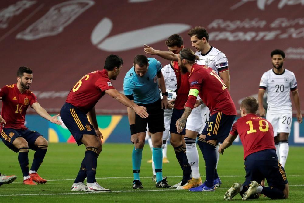 Liga de Naciones: España - Alemania.