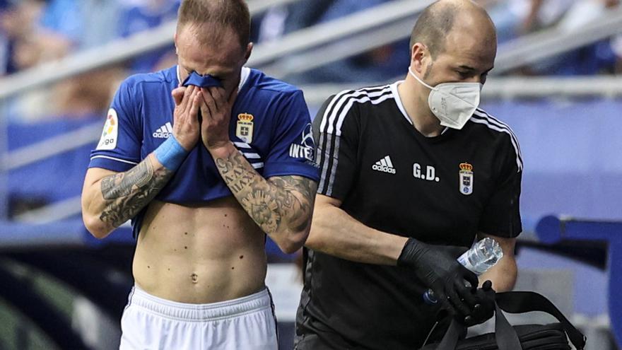 Buenas noticias para el Oviedo: Cornud podría jugar en Zaragoza