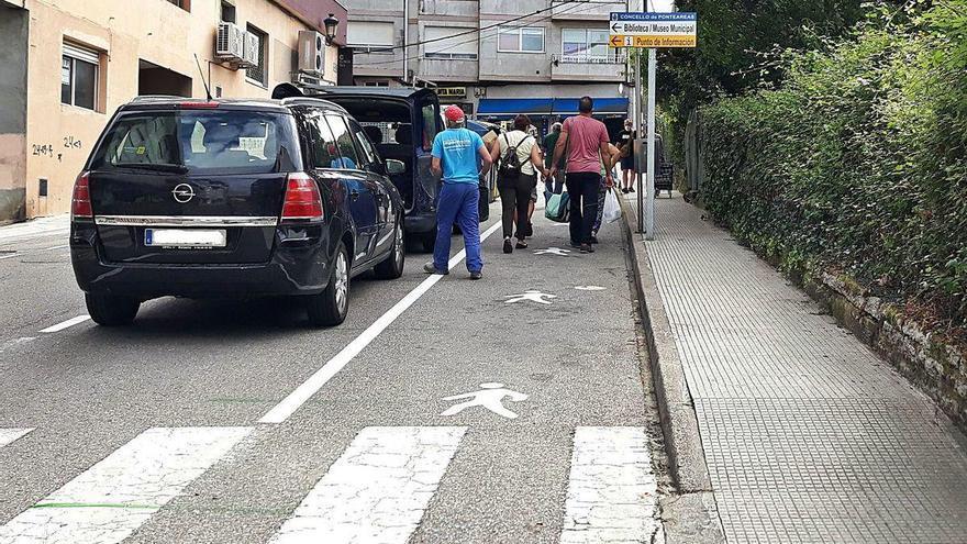 Ponteareas protege a peatones y ciclistas con controles de radar en el casco urbano