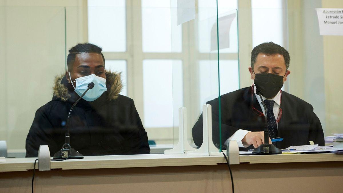 El autor confeso crimen machista Laredo, en el juicio.