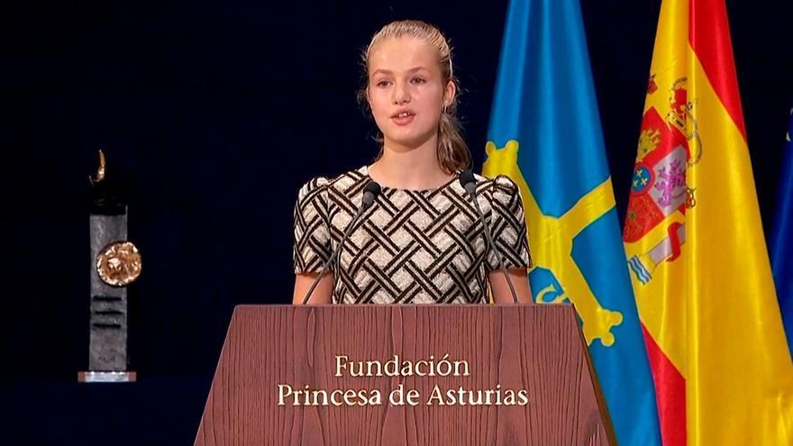 """La Princesa de Asturias a los premiados: """"Sois un ejemplo para los más jóvenes"""""""