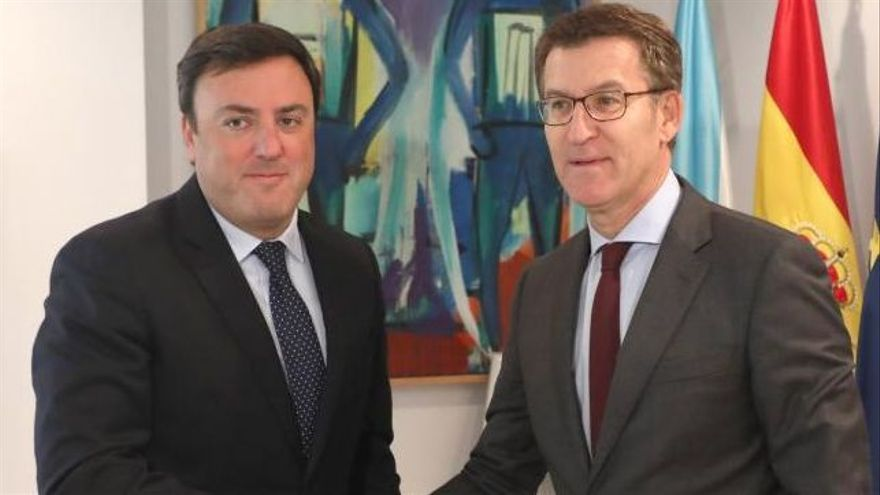 Los presidentes de la Diputación y la Xunta, Valentín González Formoso y Alberto Núñez Feijóo. |   // X. ÁLVAREZ