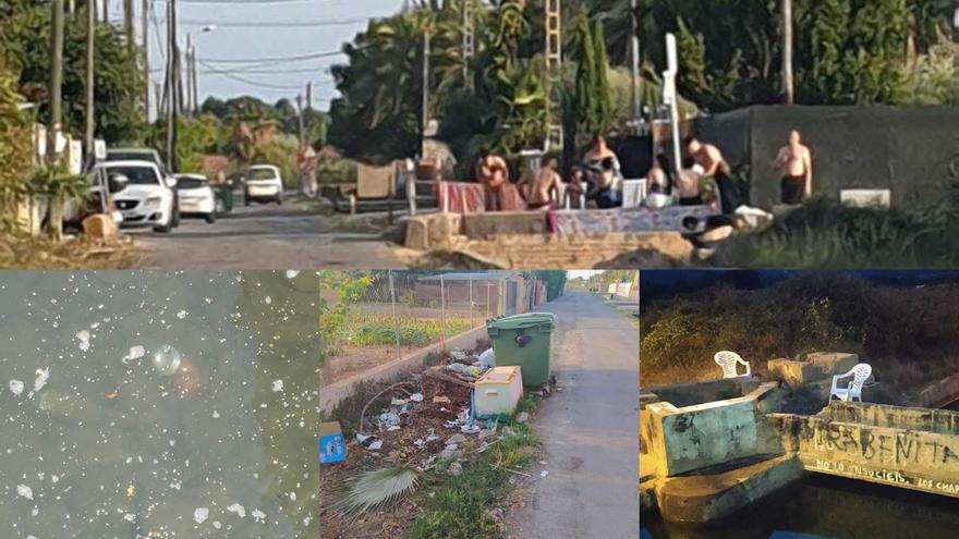 Vecinos del Grau de Castelló denuncian conductas incívicas en la acequia del Primer Canal