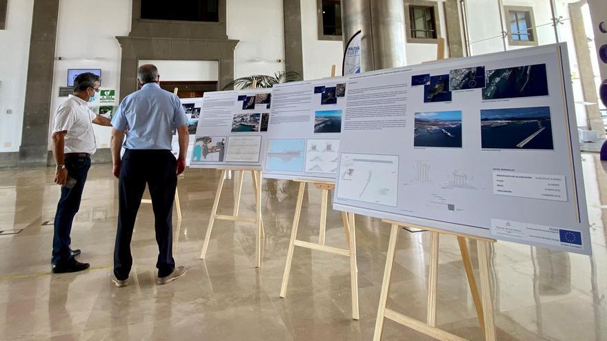 Exposición itinerante sobre las obras Feder 2014-2020 en los Puertos de Las Palmas.