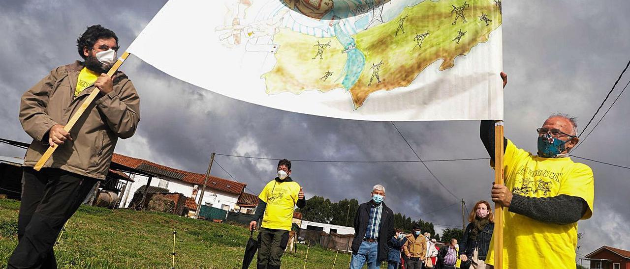 Manifestación en Cardo contra la subestación, el pasado mes de octubre.