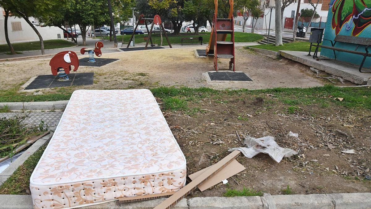 Un parque de la pedanía murcianade Los Garres.