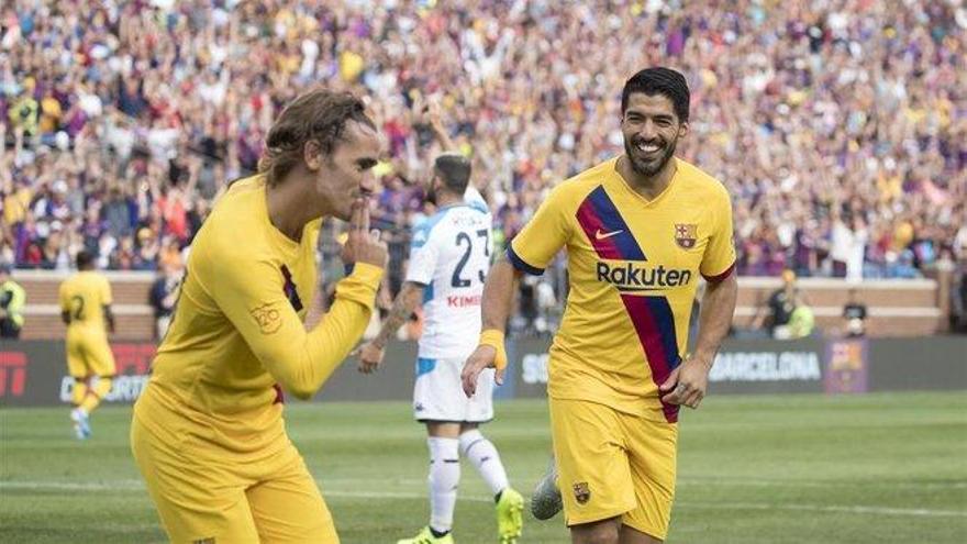 El Barça se ilusiona con un festival de goles ante el Nápoles (4-0)