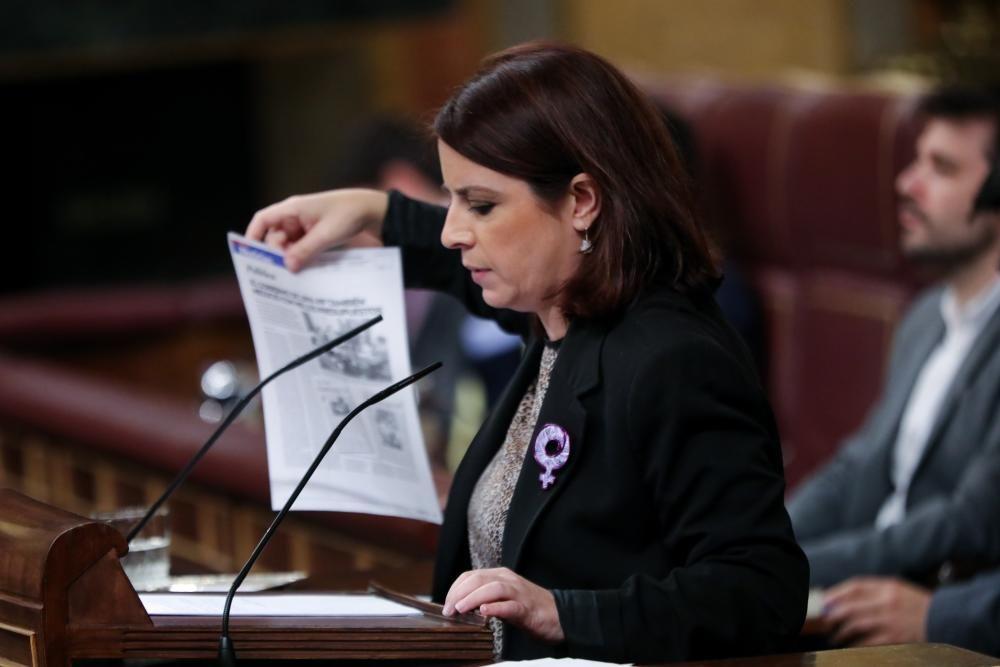 La portavoz del PSOE en el Congreso, Adriana ...