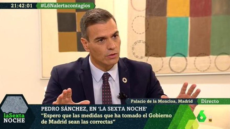 """Pedro Sánchez, a favor de que Simón grabe 'Planeta Calleja': """"Tiene todo el derecho por ley"""""""