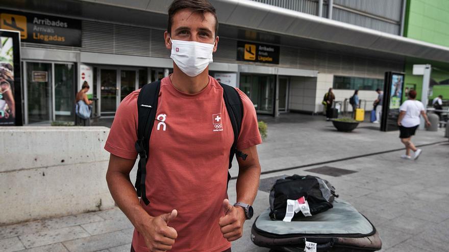 Mateo Sanz, feliz en su vuelta a casa