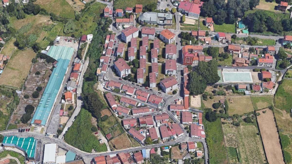 Vista aérea del barrio vigués de A Salgueira. // FDV