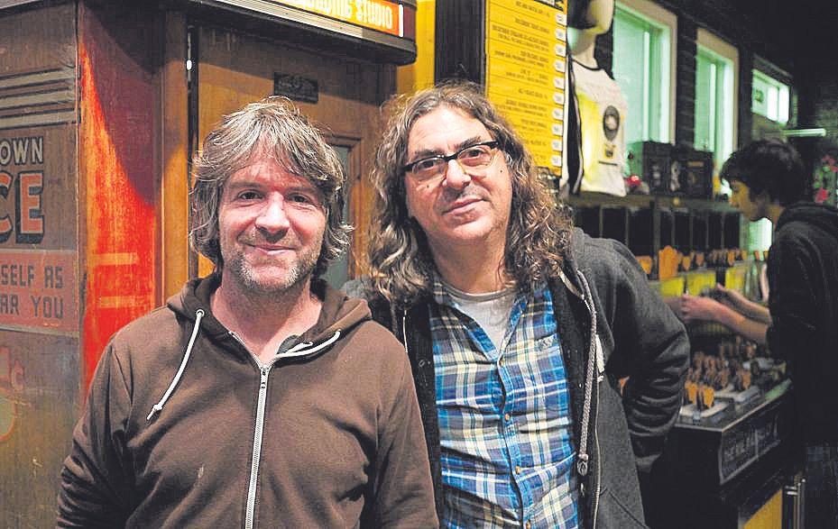Con Tim Easton en el Third Man Records de Jack White.