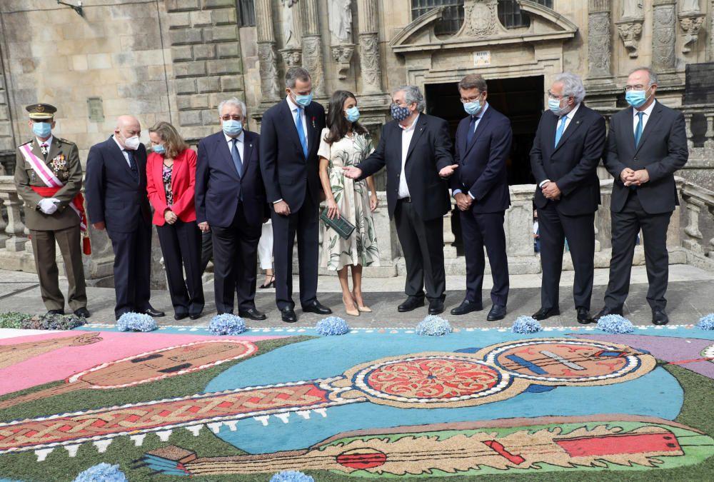 Don Felipe y Doña Letizia se unen a los actos del Día de Galicia en la catedral compostelana.