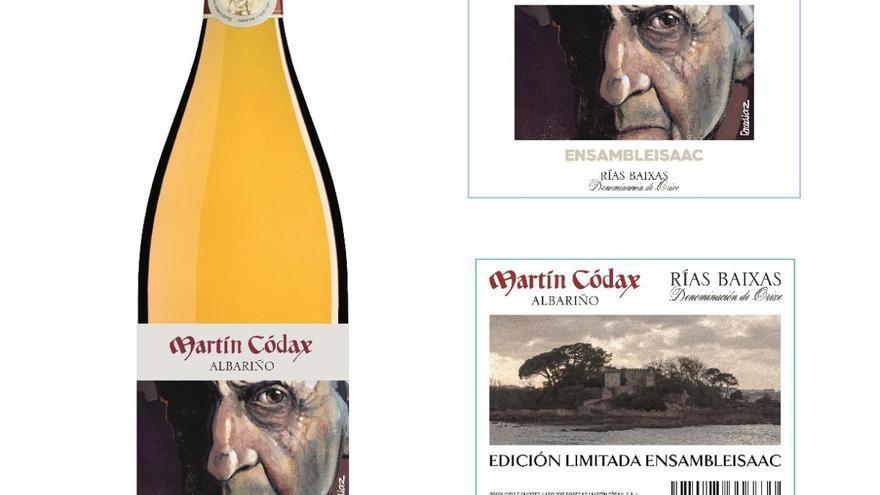 "El vino ""Ensambleisaac"", homenaje de Martín Códax a Isaac Díaz Pardo"