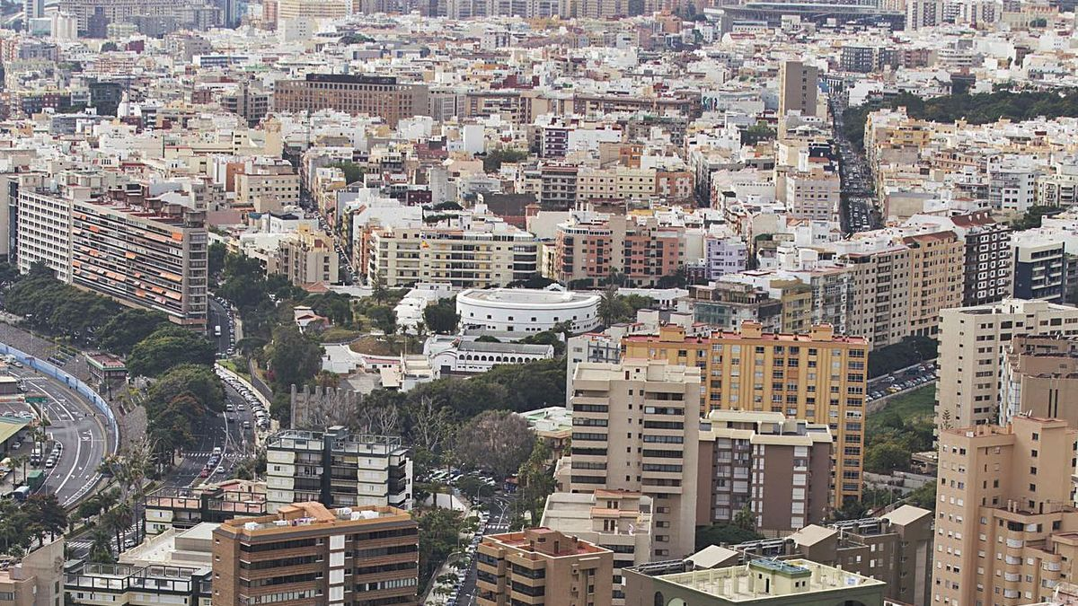 Vistas del municipio de Santa Cruz de Tenerife.