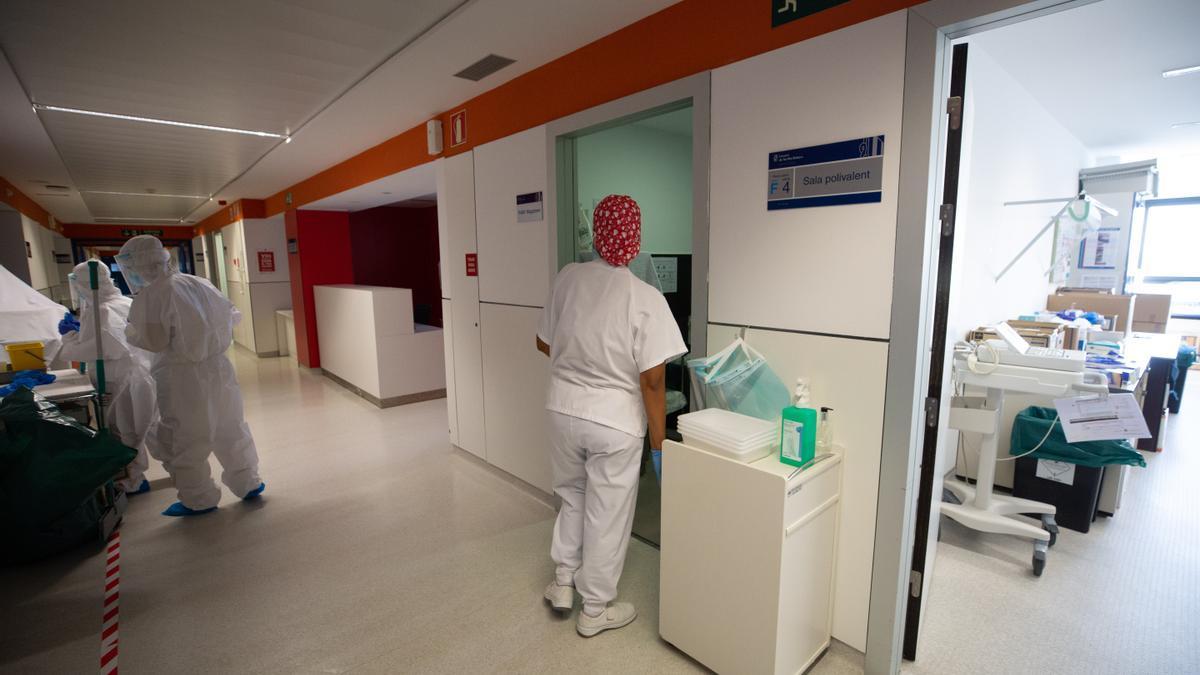 Planta F de Medicina Interna del Hospital Can Misses, en Ibiza.